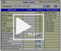 job cost grid