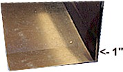 Bend sheet metal 1 inch