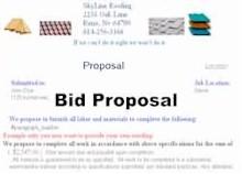 Bid Proposal