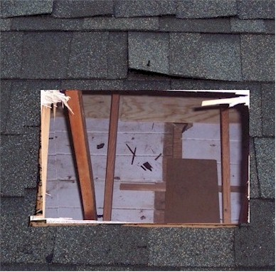 Dormer vent cut sheathing