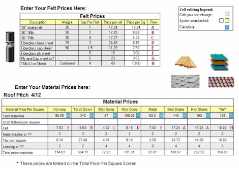 Roofing Material Price Per Square Calculator Roofgenius Com