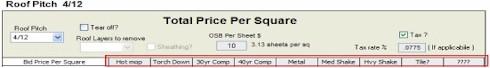 Price per square