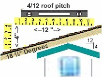 4/12 roof pitch deatails