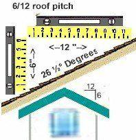 6 / 12 roof pitch