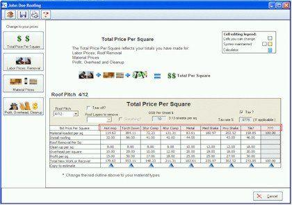 Roofing Price Per Square Calculator For Roofing Bids