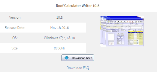 RoofCalcWriter Software Self Installing Download (No More Sales) Roof  Calculator Writer 10.8 Version 10.8 Release Date: Nov 18,2016 OS: Windows  XP,7,8 U0026 10 ...