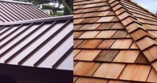 aluminum and versus wood shake roof