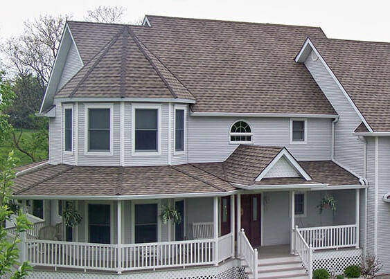 MOST POPULAR ROOF SHINGLE LIGHT AND DARK COLOR SAMPLE