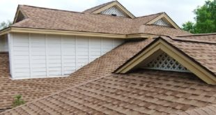 Composition shingle roof and advantages