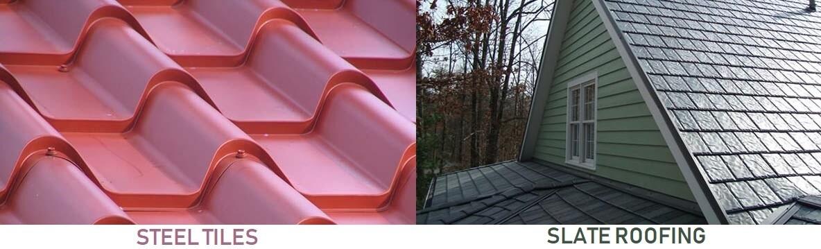 Metal Steel Tiles and Slate Roofing