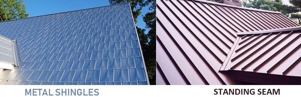 Metal roof Shingles and Standing seam