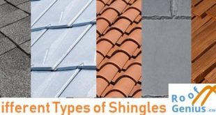 different types of shingles