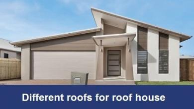 Different roofs for roof house