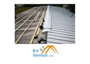 metal roofing install